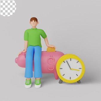 3d illustration. saving money financial concept