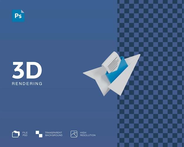 3d illustration send message