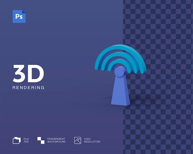 Значок сигнала 3d иллюстрации