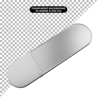 3d illustration simple icon beauty object nail care tools