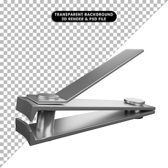 3d illustration simple icon beauty object nail clipper