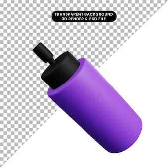 3dイラストシンプルなアイコン美容オブジェクト香水