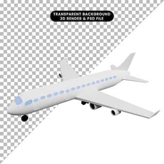 3d 그림 간단한 아이콘 운송 비행기