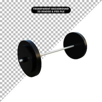 3 d イラスト シンプル オブジェクト バーベル