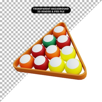 3 d イラスト シンプルなオブジェクト ビリヤード ボール