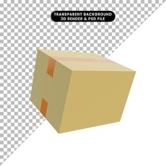 3d 그림 간단한 개체 상자 포장