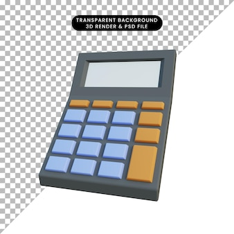 3 d イラストレーションの単純なオブジェクトの計算機