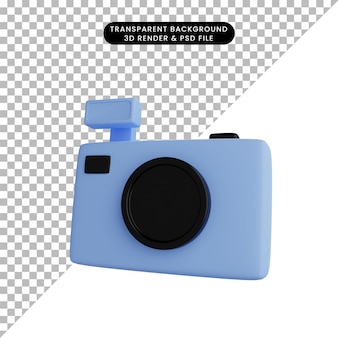 3d illustration of simple object camera