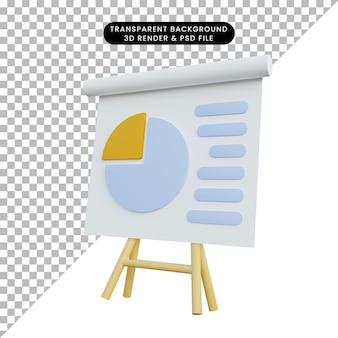 Доска отчета данных простого объекта 3d иллюстрации