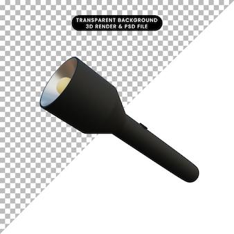 3 d イラスト シンプルなオブジェクト 懐中電灯