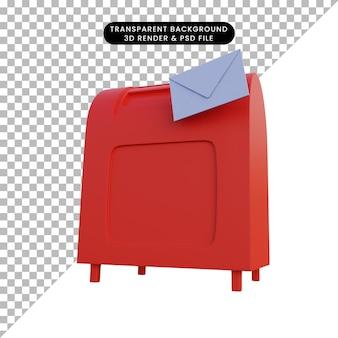 3dイラストシンプルオブジェクトメールボックス