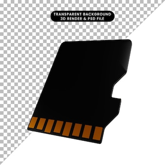3dイラストシンプルオブジェクトマイクロsd