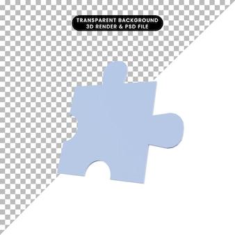 3dイラストシンプルなオブジェクトパズル
