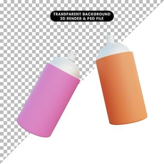 3 d イラスト シンプルなオブジェクト パイロックス スプレー式塗料