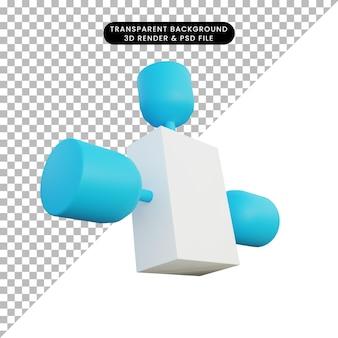 3dイラストシンプルなオブジェクトsatelite