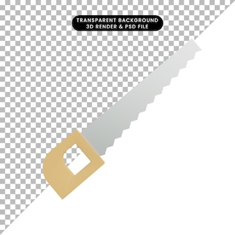 3d illustration simple object saw