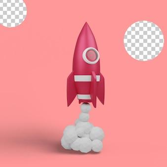 3d иллюстрации. старт космического корабля, взлет тяжелого ракетоносца