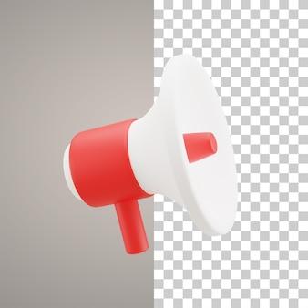3d illustration speaker icon