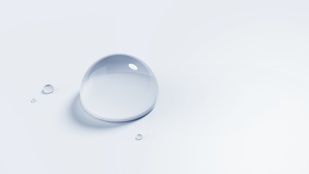 3d illustration of waterdrop isolated