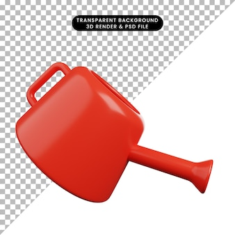 3d illustration of watering can