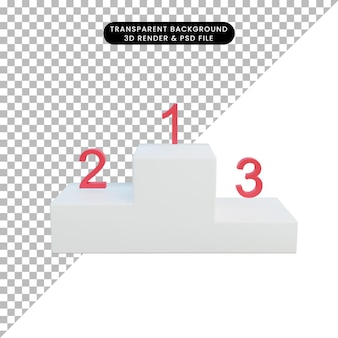 3 d イラスト 勝者 表彰台 1st 2nd 3rd