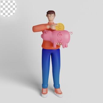 3d иллюстрации концепция безопасного хранения денег