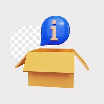 포장 개념 그림에 대한 3d 정보