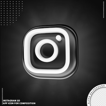 3d instagram application rotated button