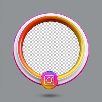 3d 인스타그램 라이브 스트리밍 소셜 미디어 아이콘