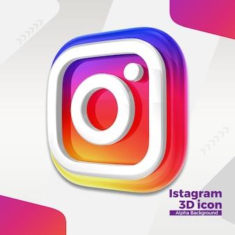 ソーシャルメディアの3dinstagramロゴ