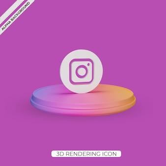 Instagram の 3 d レンダリング アイコン デザイン