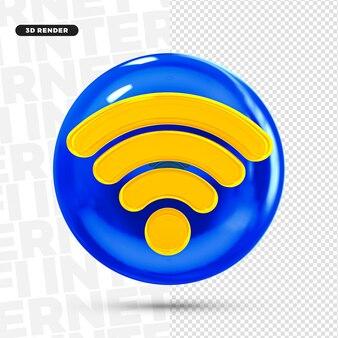 Значок логотипа 3d internet wifi для композиции premium psd