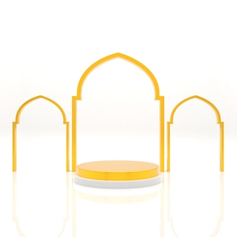 3d исламский фон подиум дисплей реалистичный рендеринг
