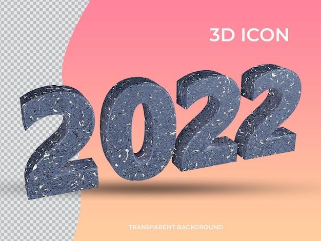 3d 고립 된 2021 3d 투명 텍스트 아이콘 디자인
