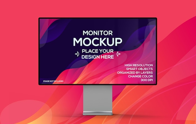 3d isolated computer monitor mockup design