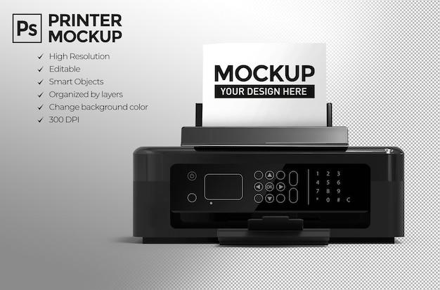 3d 격리 된 현실적인 프린터