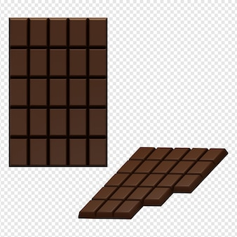 3d isolated render of chocolate icon psd