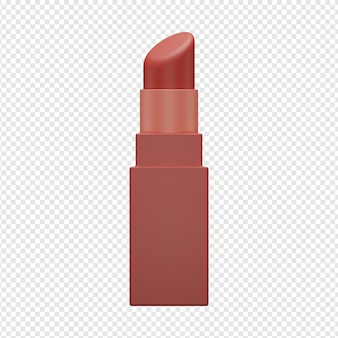 3d isolated render of lipstick icon psd