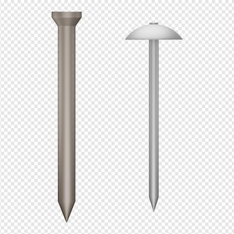3d isolated render of nail icon psd
