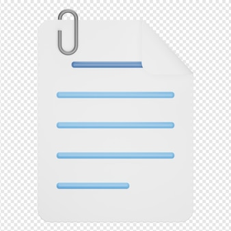 添付ファイルアイコンの3d分離レンダリング