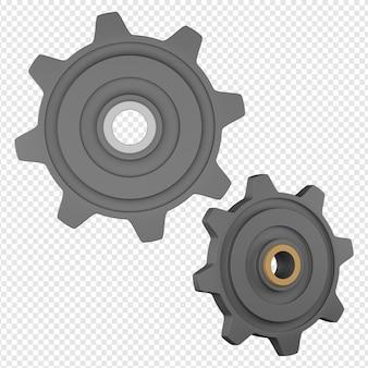 3d изолированных рендеринг значка шестеренки