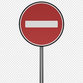 道路標識停止アイコンpsdの3d分離レンダリング