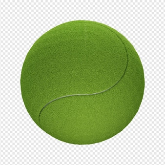 테니스 공 아이콘 psd의 3d 고립 된 렌더링