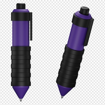 3d isolated render of pen icon psd