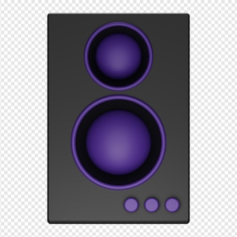 3d isolated render of speaker icon psd