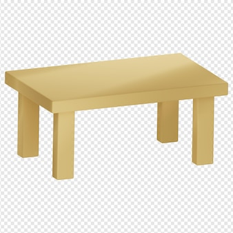 3d isolated render of table icon psd