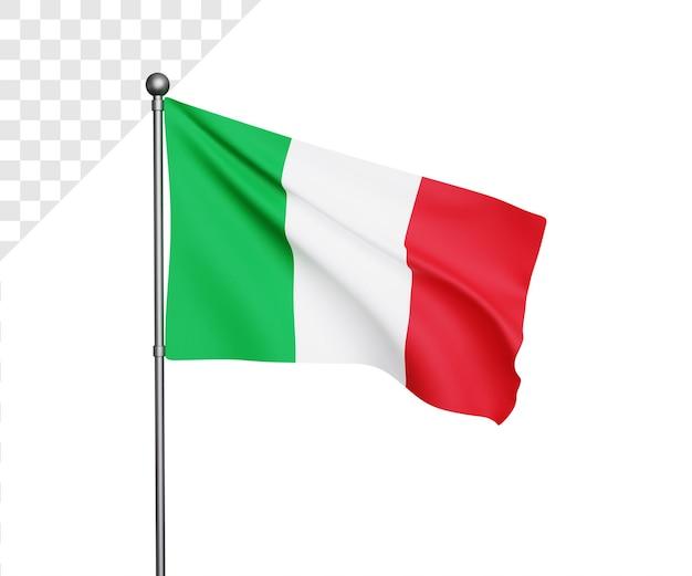 3d иллюстрация флага италии