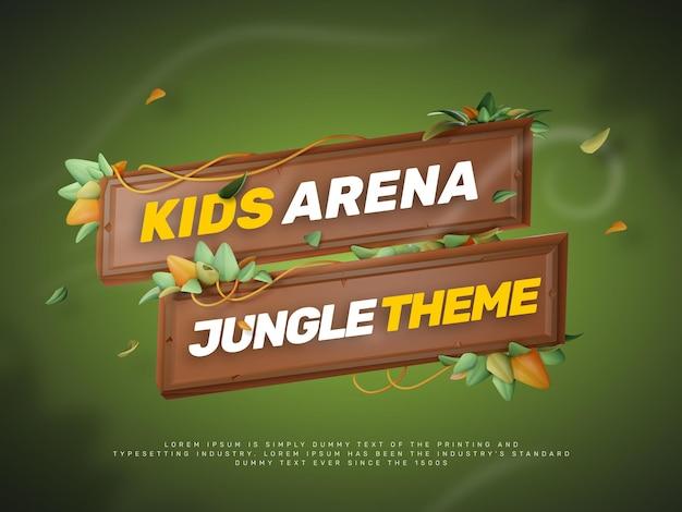 3d jungle park themed title generator