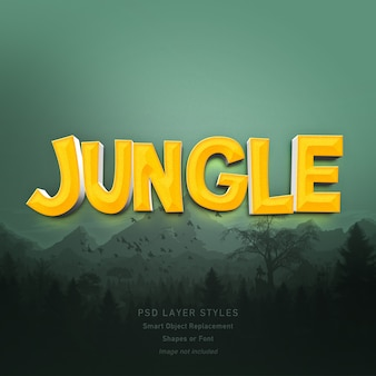 3d jungle text style effect for font