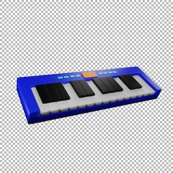 3dキーボード音楽イラスト